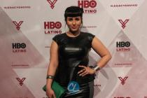 """Rebecca Torres attends the HBO Latino red carpet premiere of the """"Camino Al Concierto and Legacy: De Lider a Leyenda"""" at Center 548 on April 7, 2015 in New York City."""