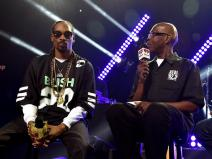 BURBANK, CA - MAY 11: Rapper Snoop Dogg and radio personality Big Boy speak onstage during Snoop Dogg Live on the Honda Stage at iHeartRadio Theater on May 11, 2015 in Burbank, California. (Photo by Kevin Winter/Getty Images for iHeartMedia)