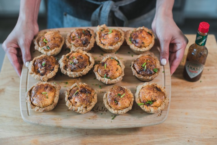 Recipe : Chorizo Breakfast Quiche Muffins Created by Chef Bricia Lopez of Guelaguetza
