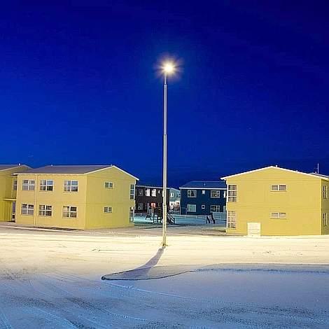 Case residenziali di Höfn, piccolo paese nel sud-est