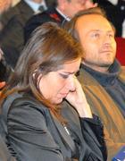 Il pm Clementina Forleo in lacrime. Al suo fianco il pm lucano Woodcock