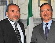 Lieberman e Frattini (Ansa)