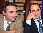 De Magistris e Di Pietro (Ansa)