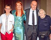 Susanna Tamaro, Michela Vittoria Brambilla, Umberto Veronesi e Margherita Hack all'incontro de «La coscienza degli animali» (Infophoto)