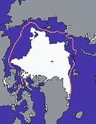 L'estensione dei ghiacci artici il 9 settembre 2011 (da Nasa-Nsdic)