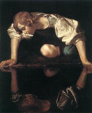 Caravaggio, «Narciso alla fonte» (1597-1599), Roma, Palazzo Barberini