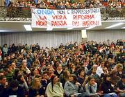 Università Statale di Milano. Dibattito degli studenti su legge 133 (Paolo Poce)