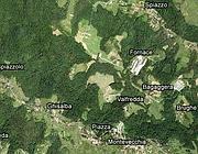 Una veduta da satellite del Parco del Curone (da Google Maps)