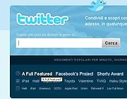 L'home page di Twitter