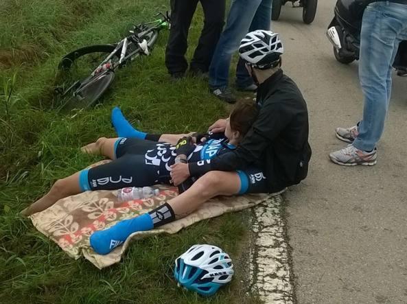 La ciclista ferita (foto gentilmente concessa da «Il giornale di Vicenza»)