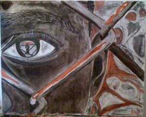 Un'opera dell'artista nigeriana Nnena Abiola Wabara.