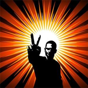 la-gente-nel-segno-della-vittoria-e-la-vect-radiazione-di-fondo_15-138