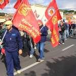 la manifestazione dei lavoratori Dalmine