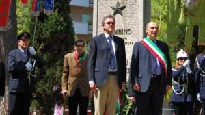 Il presidente Rossi con l'Ex sindaco Anselmi nel 2010