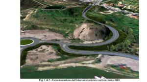 la fine del Lotto 1 con la problematica curva alla rotonda del Gagno