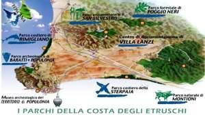 il territorio gestito da Parchi Val di Cornia