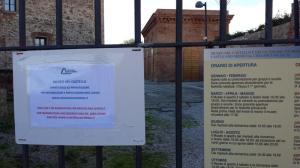 Museo chiuso anche se in orario di apertura