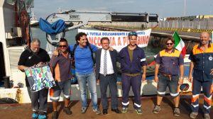 i marinai con il sindaco Giuliani