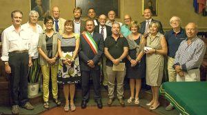 I mazziniani in sala consiliare (foto Livi)