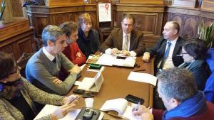 la conferenza stampa della giunta piombinese