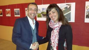 Il presidente nazionale dell'Italiaintesta con Benedetta Bernardini