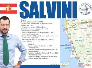 le tappe in Toscana di Matteo Salvini