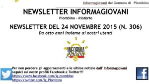 l'intestazione dell'ultima newsletter