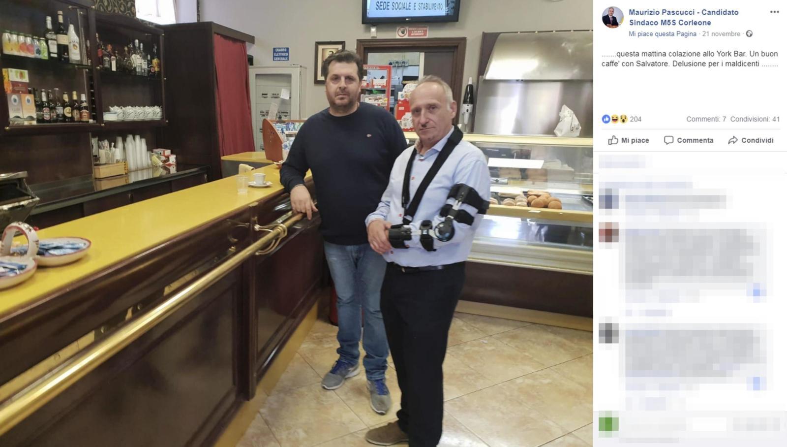 Mafia, foto al bar con nipote di Provenzano: è bufera tra Di Maio e candidato sindaco M5S