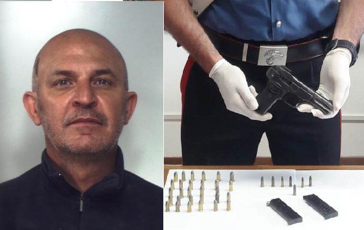 Mineo, 35 enne deteneva in casa in casa pistola: agli arresti domiciliari