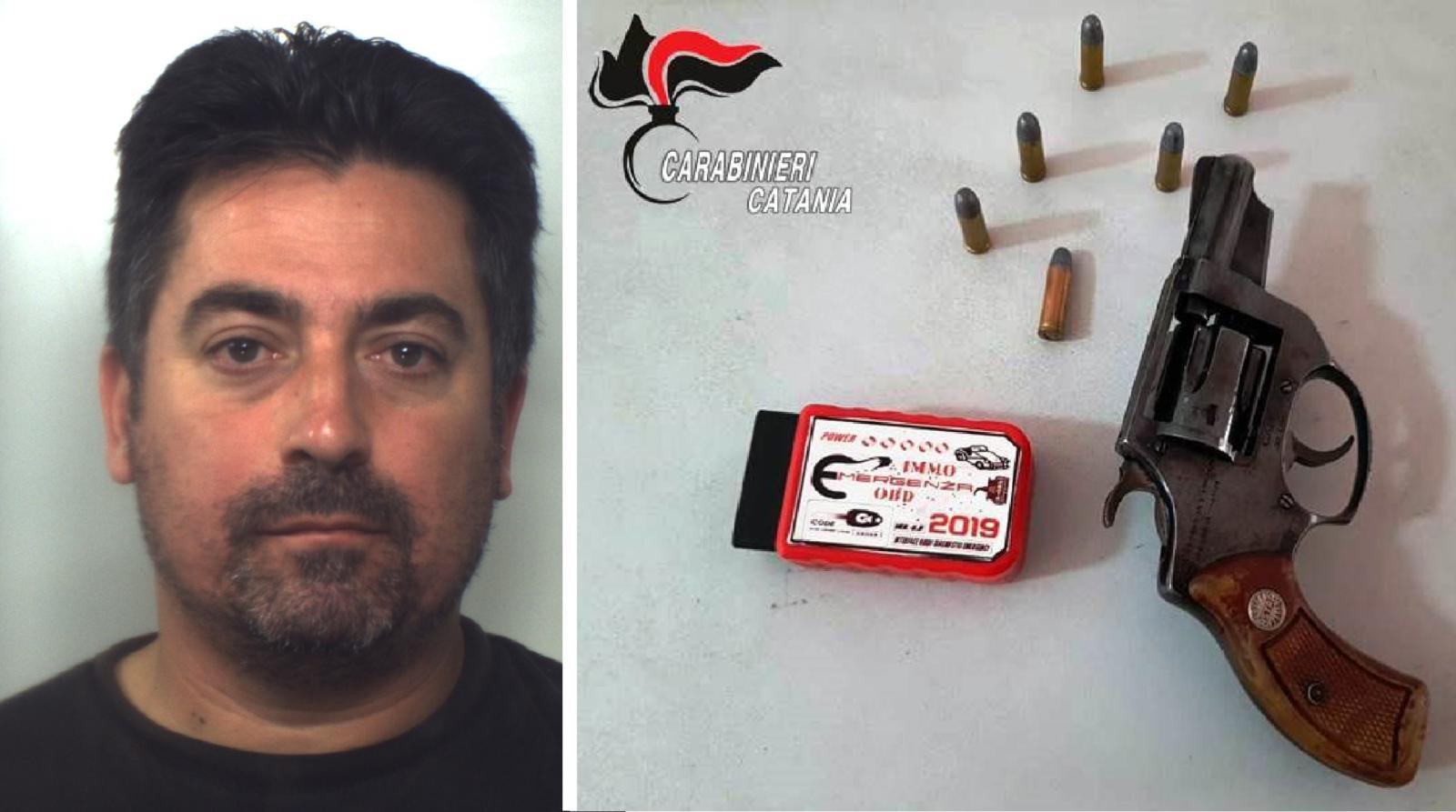 Acireale, 43enne in manette: nell'officina una pistola e un 'silenziatore' per ladri d'auto