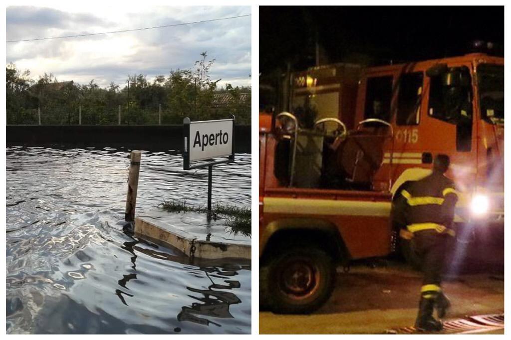 Maltempo, auto in panne nel 'lago' Naviccia di Adrano: a Misterbianco si ribalta camion - Corriere Etneo