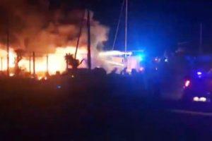 Lampedusa Incendio Barconi