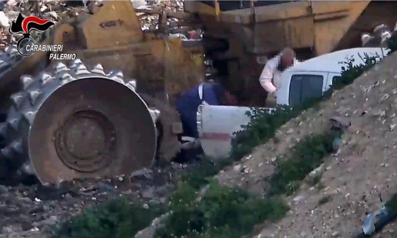 Palermo, 25 misure cautelari per i furti alla discarica di Bellolampo: banda prelevava 1300 litri di carburante al giorno