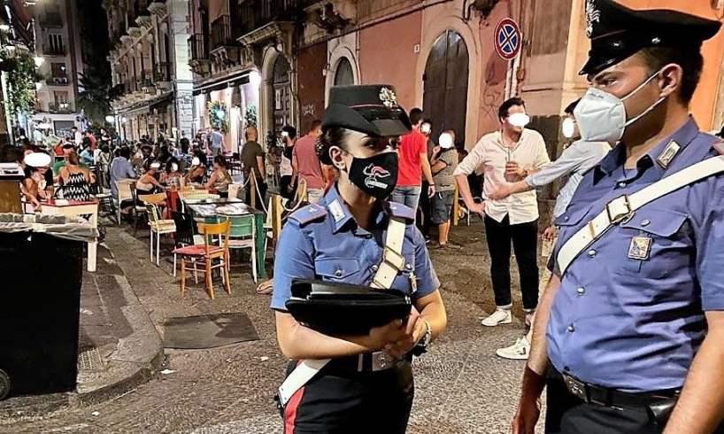 Catania, controlli anti-Covid e 'movida sicura' nel centro storico: oltre 5 mila euro di sanzioni