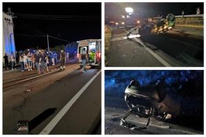 Sulla SS. 284 Adrano-Bronte Y10 inseguita dalla Polizia va a sbattere: conducente sbalzato fuori dall'abitacolo