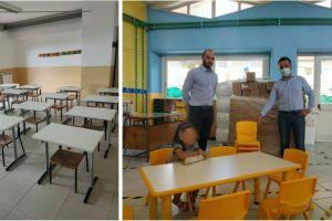 Scuola, a Biancavilla arrivati i banchi per l'infanzia: i monoposto al plesso 'Don Bosco' di S. M. di Licodia