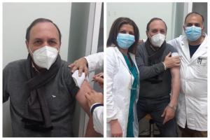 """Paternò, il sindaco Naso si è vaccinato: """"Oggi è toccato anche a me come dipendente Asp"""""""