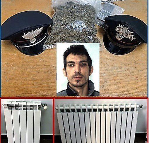 Ramacca, ruba termosifoni in una scuola e a casa gli trovano 300 g di marijuana: arrestato