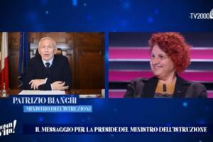 """Scuola, il ministro elogia in tv la preside del 'Duca degli Abruzzi' Morsellino: """"E' riuscita a tenere uniti i ragazzi più difficili"""""""