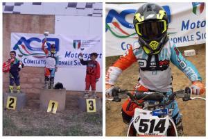 """Adrano, il campioncino di motocross vince ancora. Vincenzo Puleo: """"Questa vittoria è per mamma Francesca"""""""