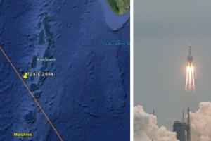 Spazio, il razzo cinese è rientrato sull'Oceano Indiano vicino alle Maldive: Italia tira sospiro di sollievo