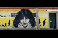 """Per i 70 anni di Claudio Baglioni un murales a Centocelle: """"L'avete pensata bella"""""""