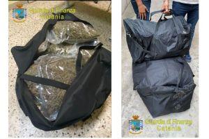 Catania, GdF sequestra 37 kg di marijuana ad alto potenziale: due persone arrestate