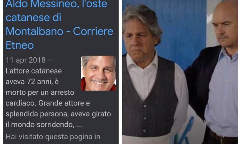 """Una 'fake news' ti allunga la vita. L'attore Aldo Messineo: """"La notizia della mia morte è una bufala"""""""