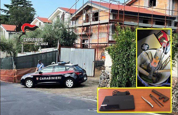 Trecastagni, rubano attrezzi nel cantiere di una villetta in via Catania: 2 arrestati in flagranza