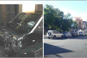 Paternò, scontro tra due Smart in piazza Carlo Alberto: feriti 4 giovani
