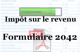 Télécharger le formulaire 2042 vierge : déclaration d'impôt 2019 au format PDF.