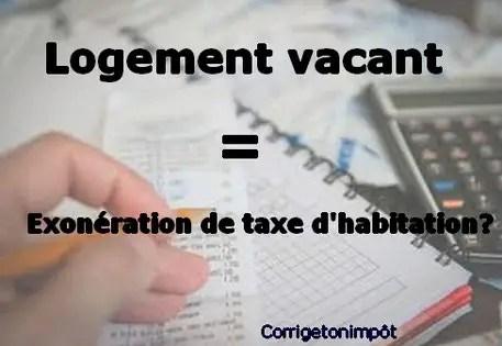 Lettre Type Exoneration De Taxe D Habitation Sur Logement Vacant