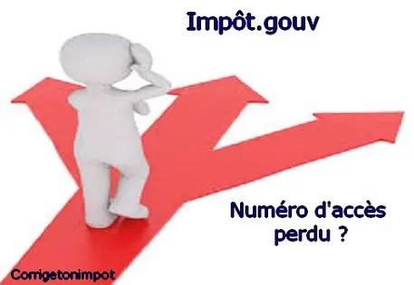 Impot Numero D Acces En Ligne Perdu Que Faire Corrige Ton Impot