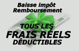 Tous les frais réels déductibles des impôts! Règles et calculs pour les kilomètres, repas, vêtements, déménagements, ordinateurs ….